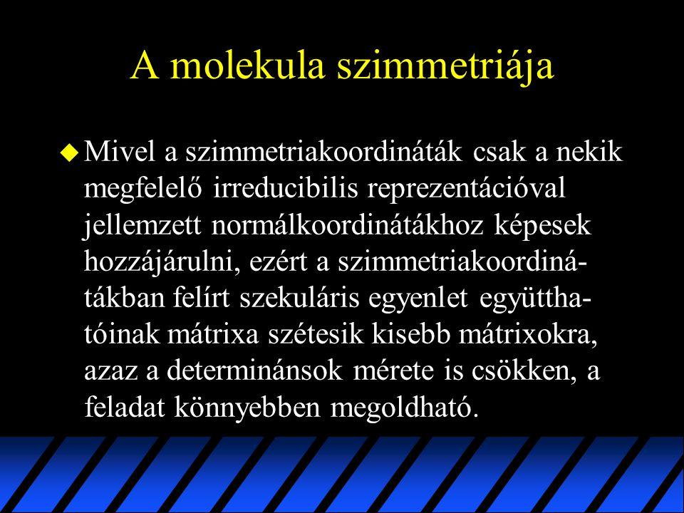 A molekula szimmetriája