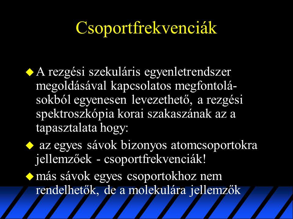 Csoportfrekvenciák