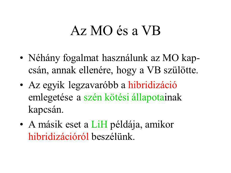 Az MO és a VB Néhány fogalmat használunk az MO kap-csán, annak ellenére, hogy a VB szülötte.