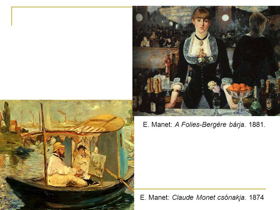 E. Manet: A Folies-Bergère bárja. 1881.