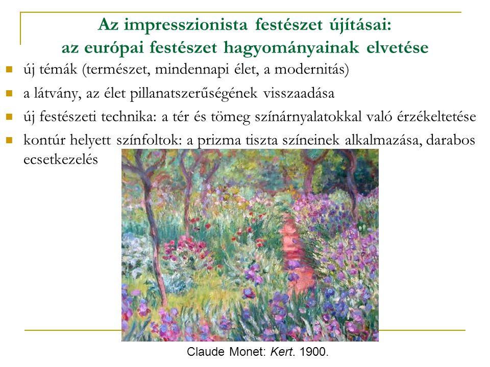 Az impresszionista festészet újításai: az európai festészet hagyományainak elvetése