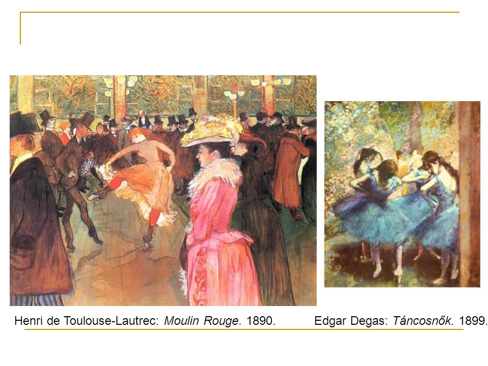 Henri de Toulouse-Lautrec: Moulin Rouge. 1890.