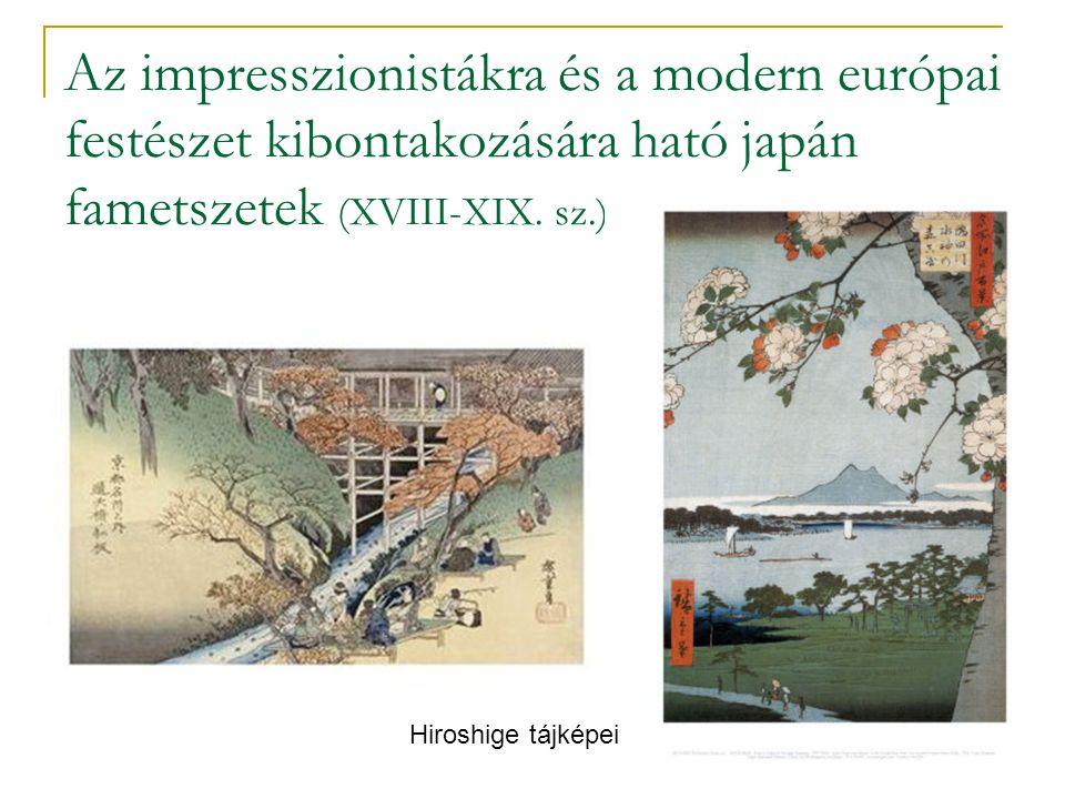 Az impresszionistákra és a modern európai festészet kibontakozására ható japán fametszetek (XVIII-XIX. sz.)
