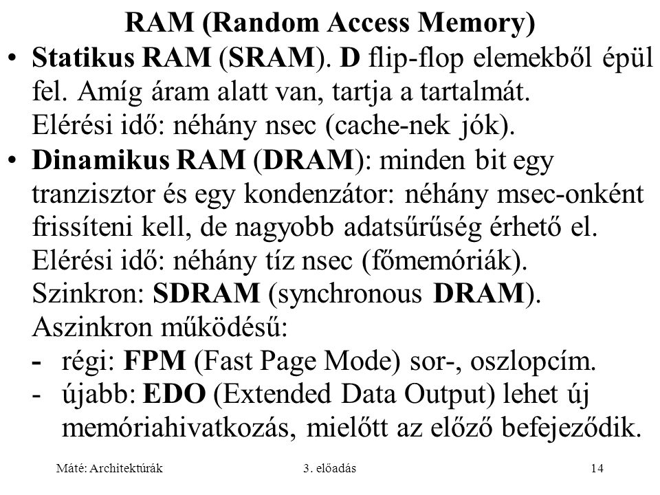 RAM (Random Access Memory)
