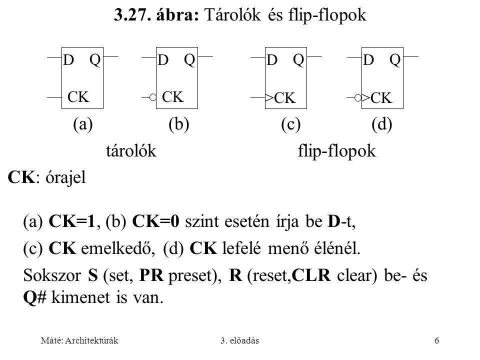 3.27. ábra: Tárolók és flip-flopok