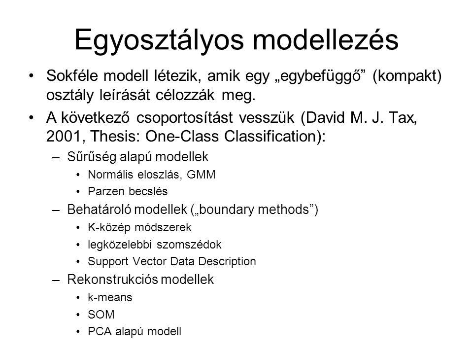 Egyosztályos modellezés