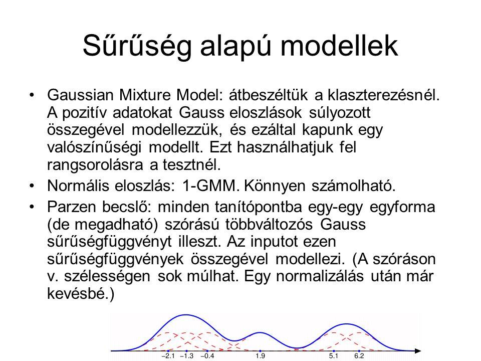 Sűrűség alapú modellek