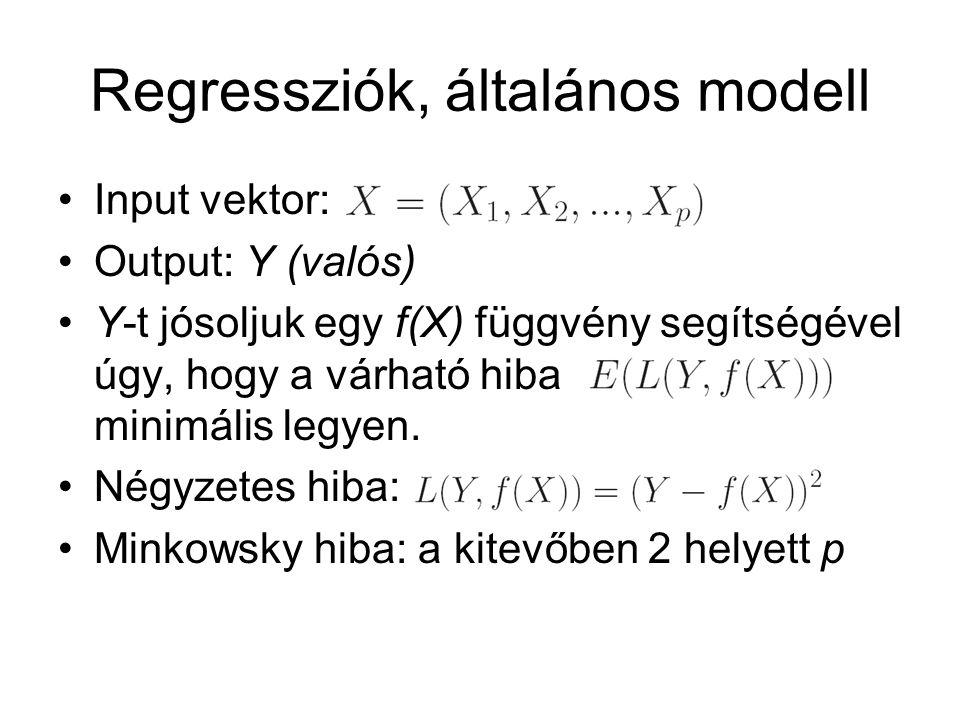 Regressziók, általános modell