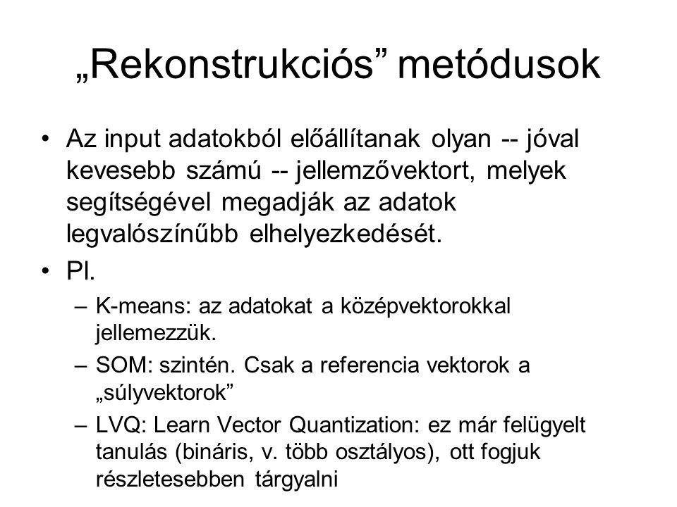 """""""Rekonstrukciós metódusok"""