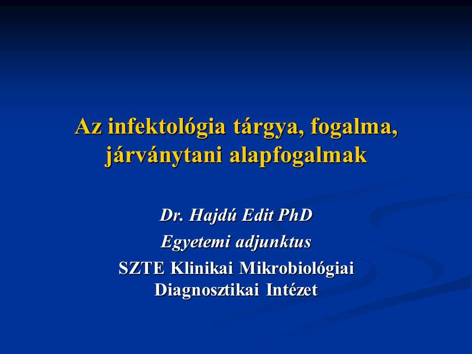 Az infektológia tárgya, fogalma, járványtani alapfogalmak