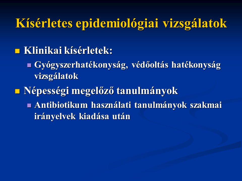Kísérletes epidemiológiai vizsgálatok
