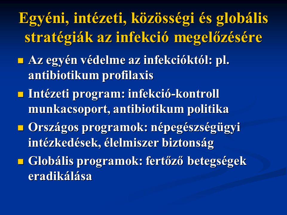 Egyéni, intézeti, közösségi és globális stratégiák az infekció megelőzésére