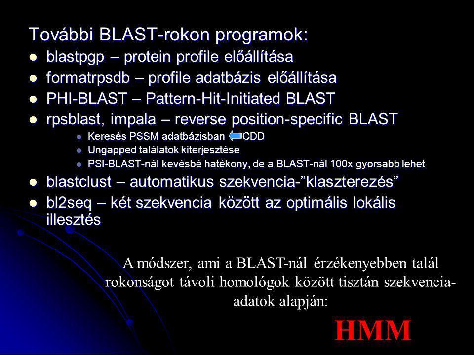 HMM További BLAST-rokon programok: