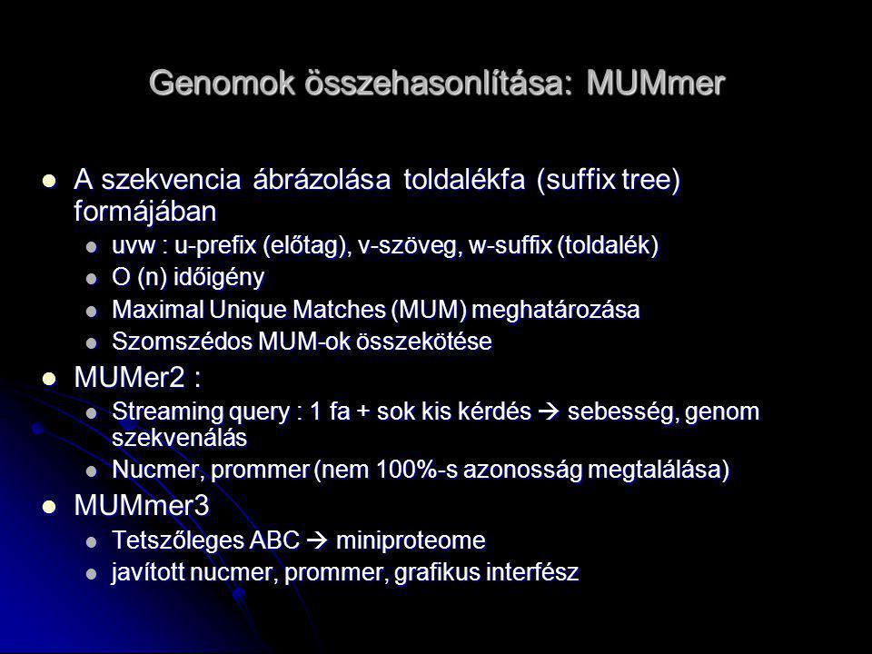 Genomok összehasonlítása: MUMmer