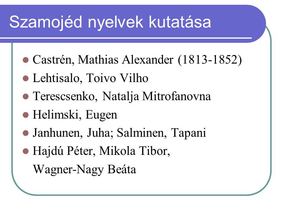 Szamojéd nyelvek kutatása
