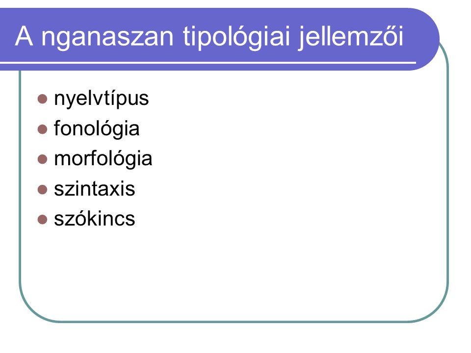 A nganaszan tipológiai jellemzői