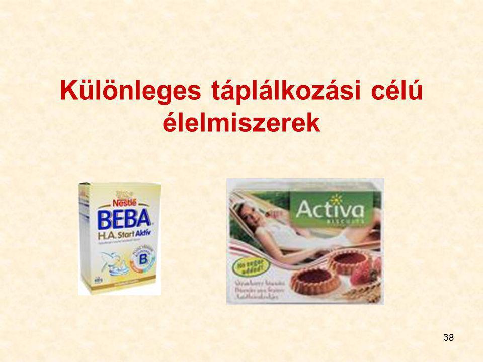 Különleges táplálkozási célú élelmiszerek