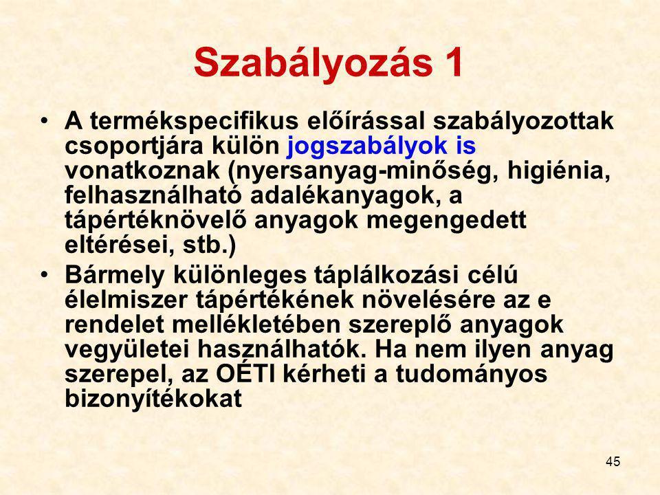Szabályozás 1