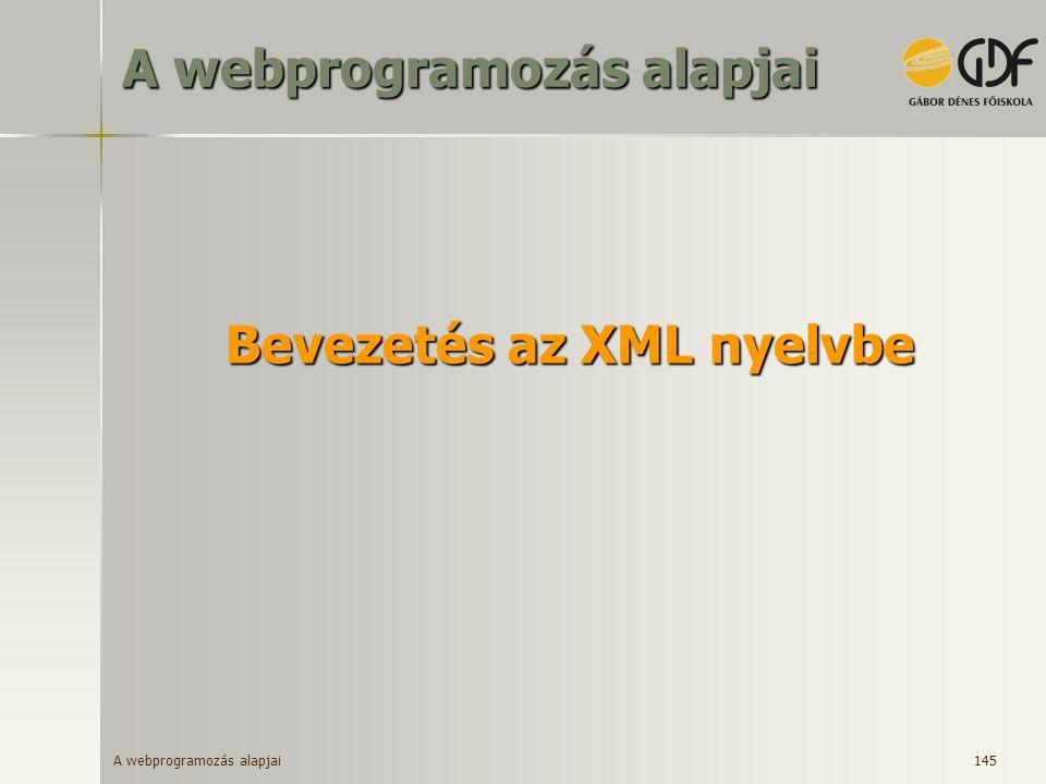 Bevezetés az XML nyelvbe