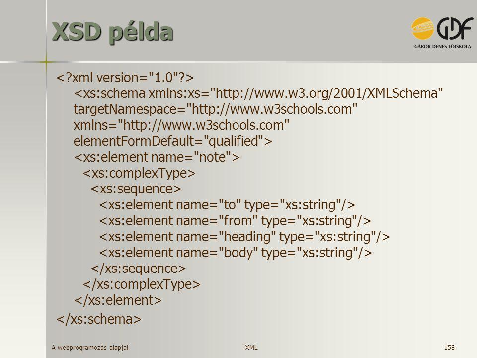 XSD példa