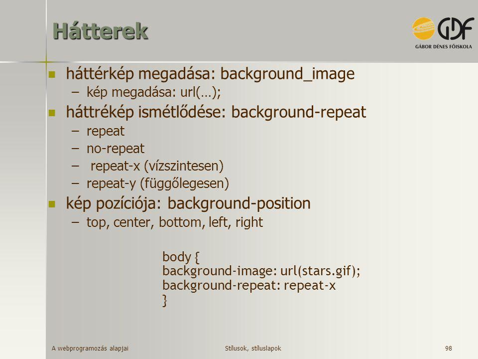 Hátterek háttérkép megadása: background_image