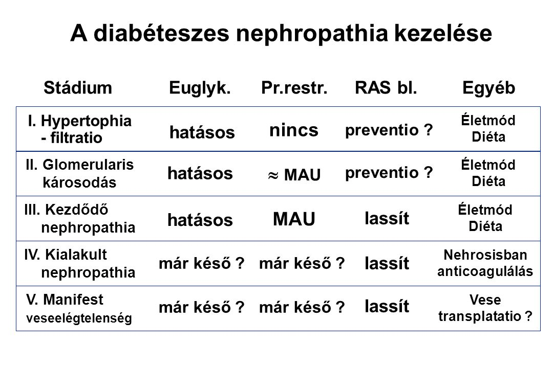 A diabéteszes nephropathia kezelése
