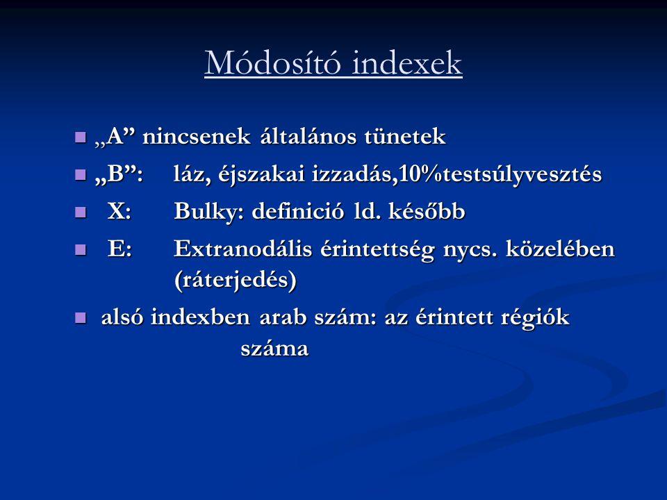 """Módosító indexek """"A nincsenek általános tünetek"""