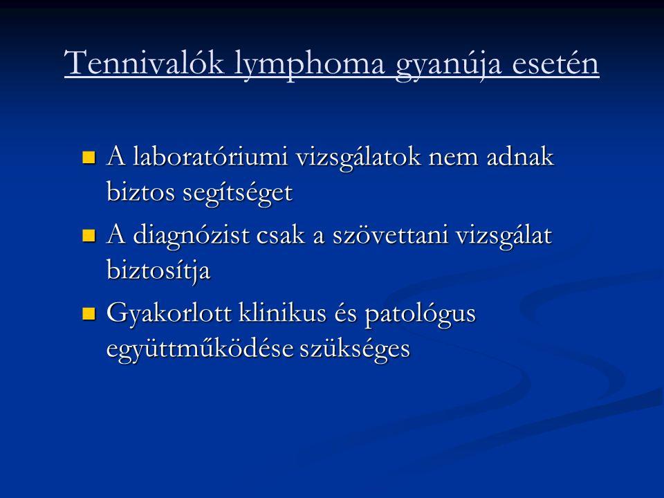 Tennivalók lymphoma gyanúja esetén