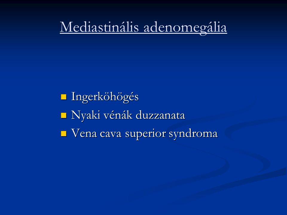 Mediastinális adenomegália