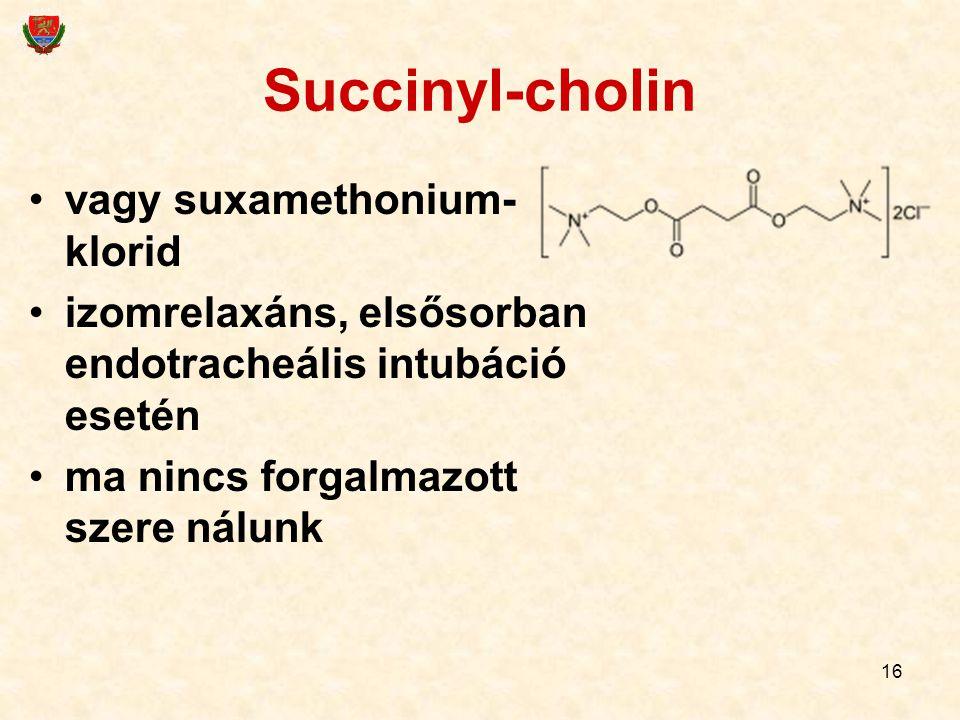 Succinyl-cholin vagy suxamethonium-klorid