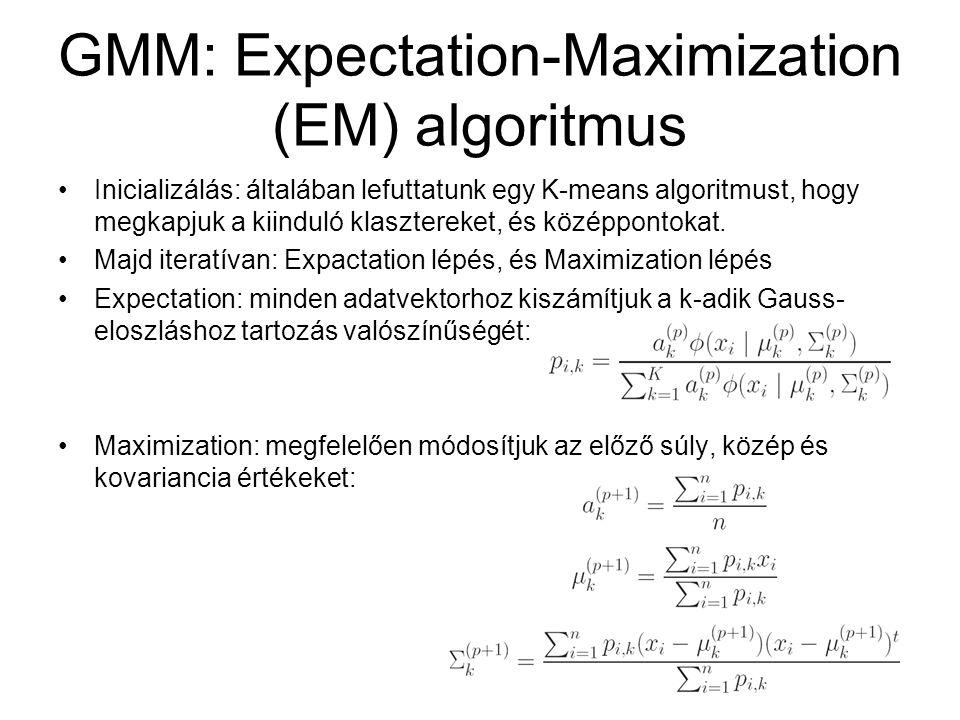 GMM: Expectation-Maximization (EM) algoritmus