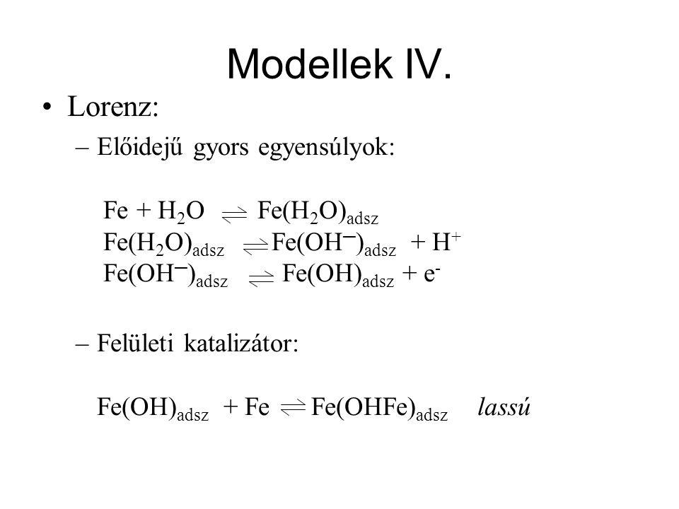 Modellek IV. Lorenz: