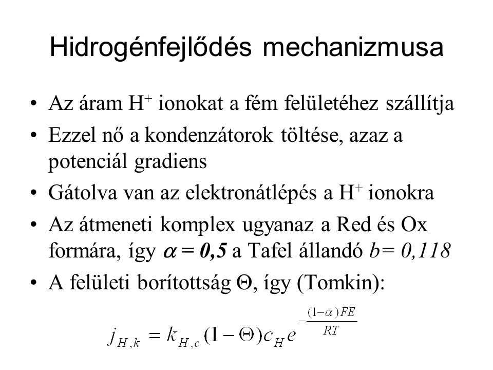 Hidrogénfejlődés mechanizmusa