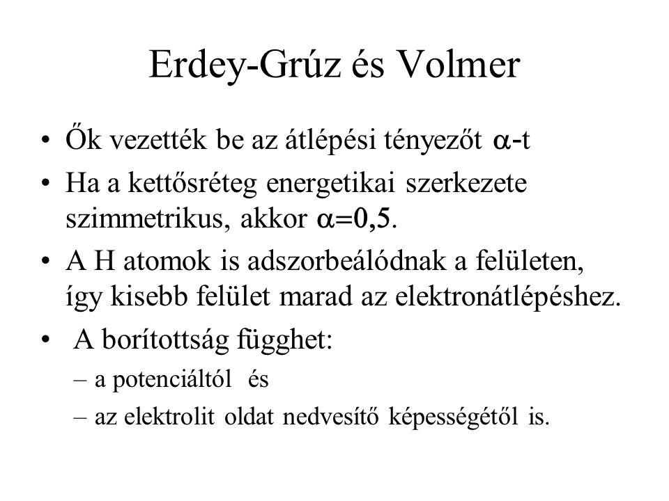 Erdey-Grúz és Volmer Ők vezették be az átlépési tényezőt a-t