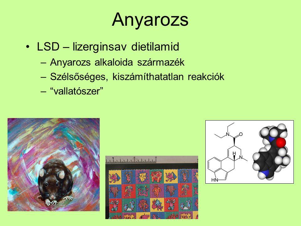 Anyarozs LSD – lizerginsav dietilamid Anyarozs alkaloida származék