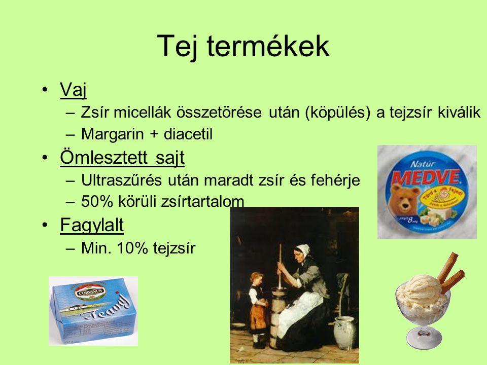 Tej termékek Vaj Ömlesztett sajt Fagylalt