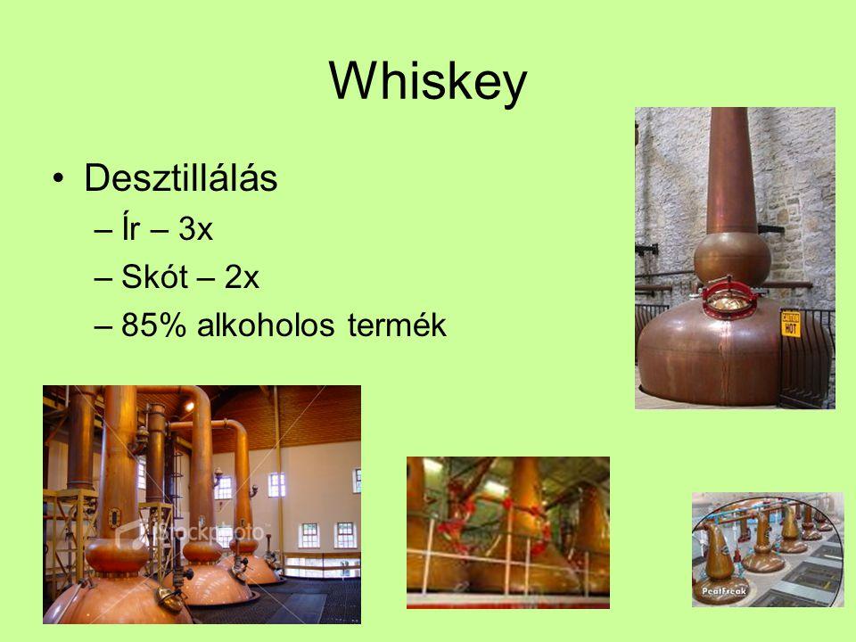 Whiskey Desztillálás Ír – 3x Skót – 2x 85% alkoholos termék