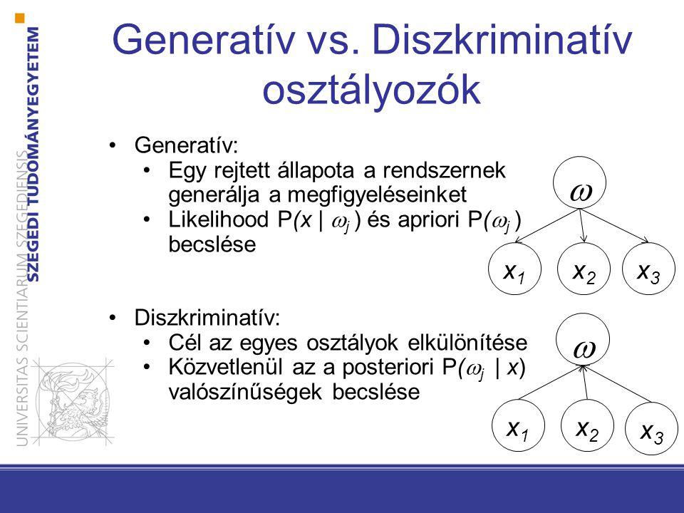 Generatív vs. Diszkriminatív osztályozók
