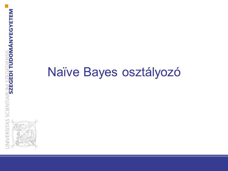 Naϊve Bayes osztályozó