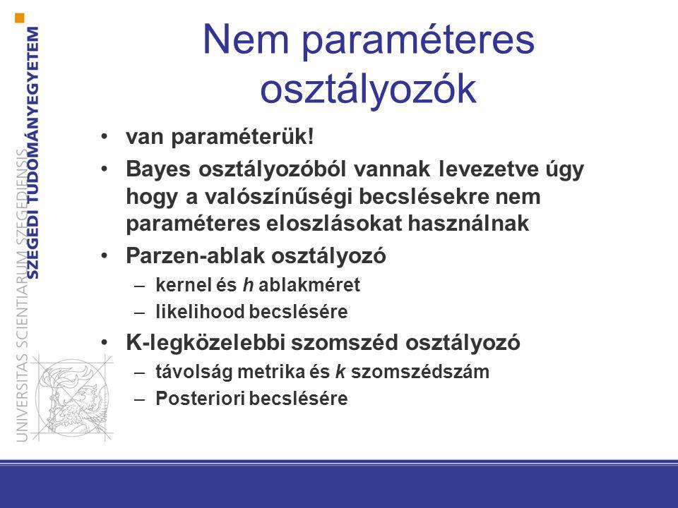 Nem paraméteres osztályozók