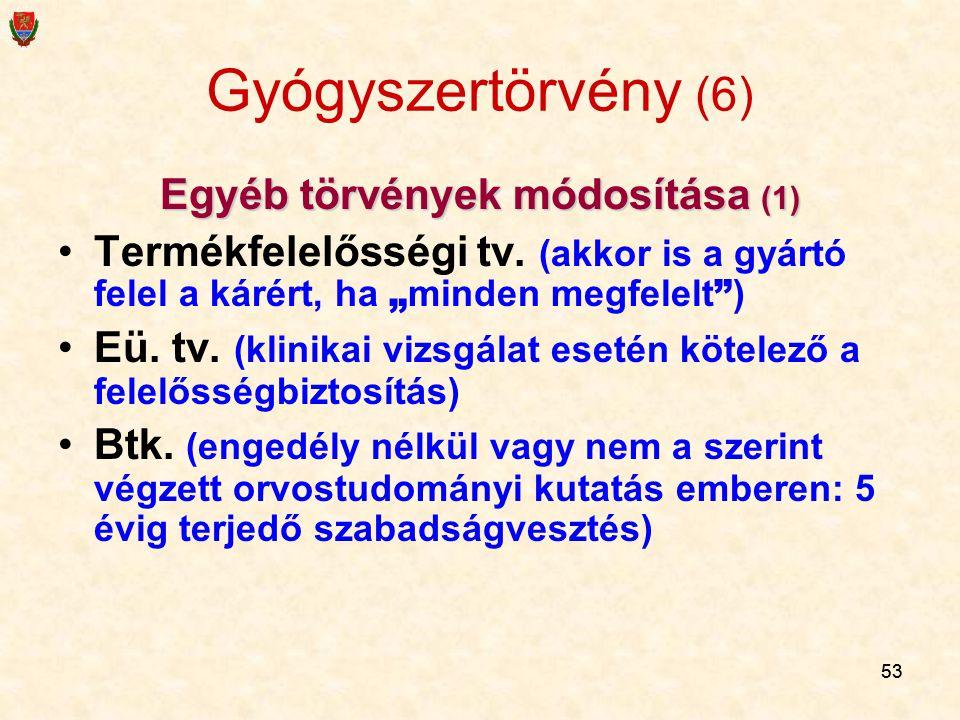 Egyéb törvények módosítása (1)