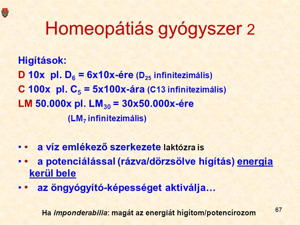 Homeopátiás gyógyszer 2