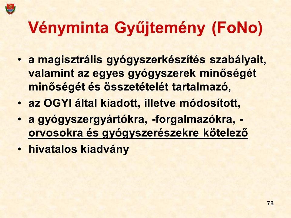 Vényminta Gyűjtemény (FoNo)