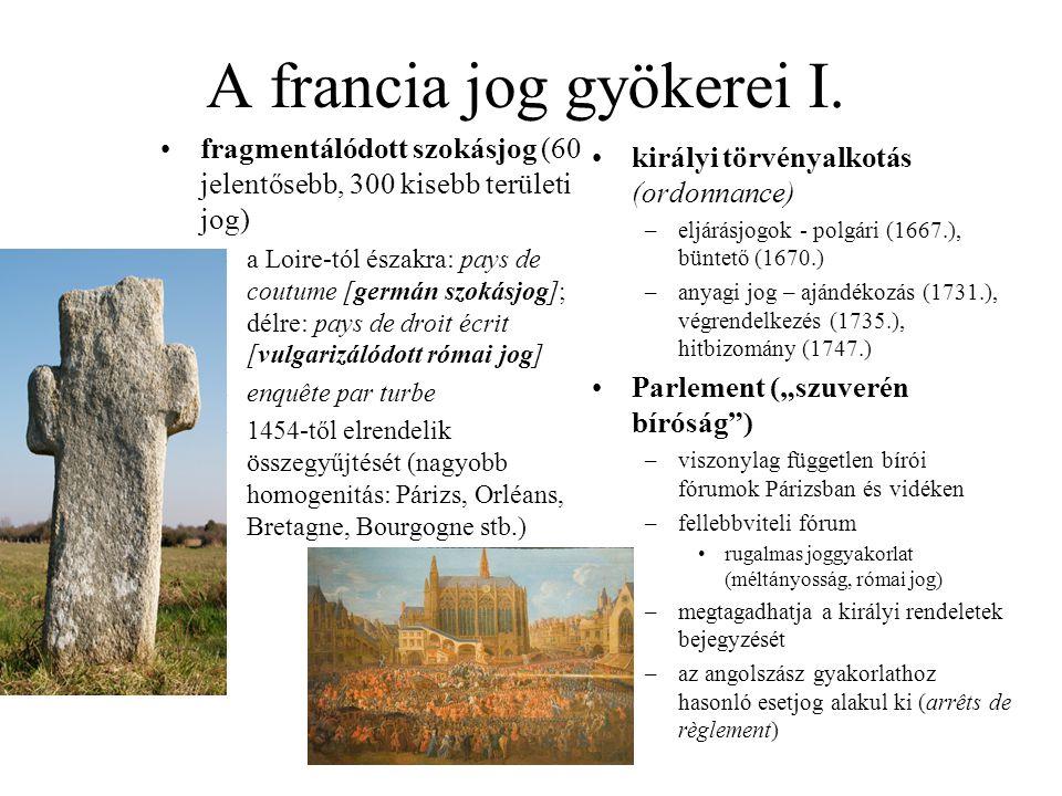 A francia jog gyökerei I.