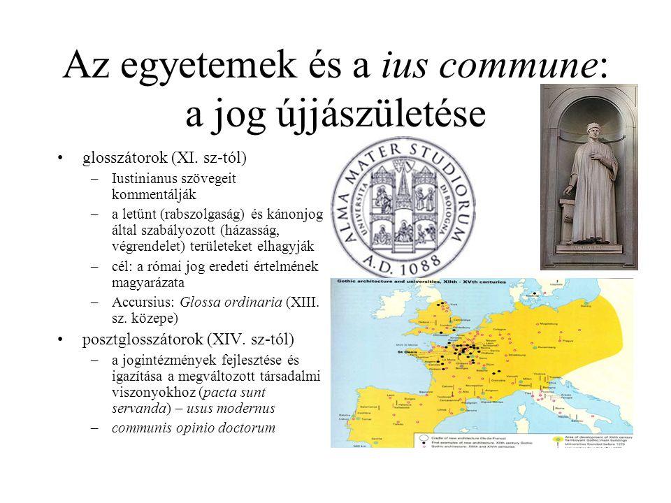 Az egyetemek és a ius commune: a jog újjászületése