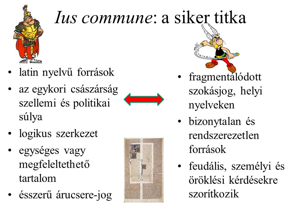 Ius commune: a siker titka