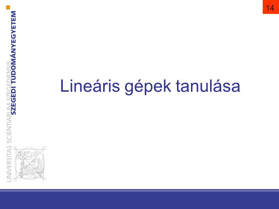 Lineáris gépek tanulása