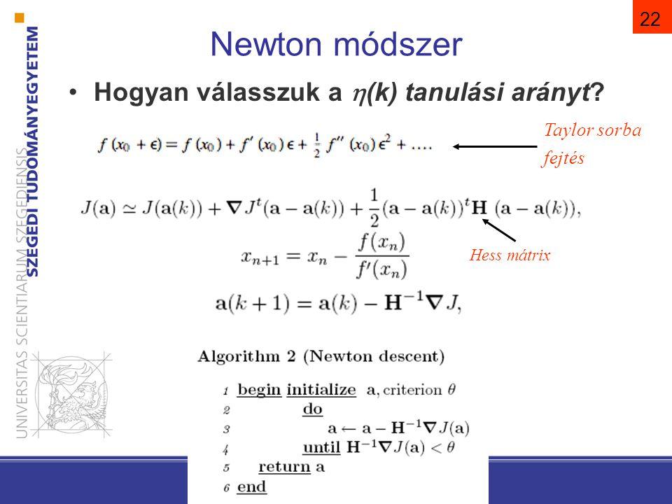 Gradiens és Newton összehasonlítása
