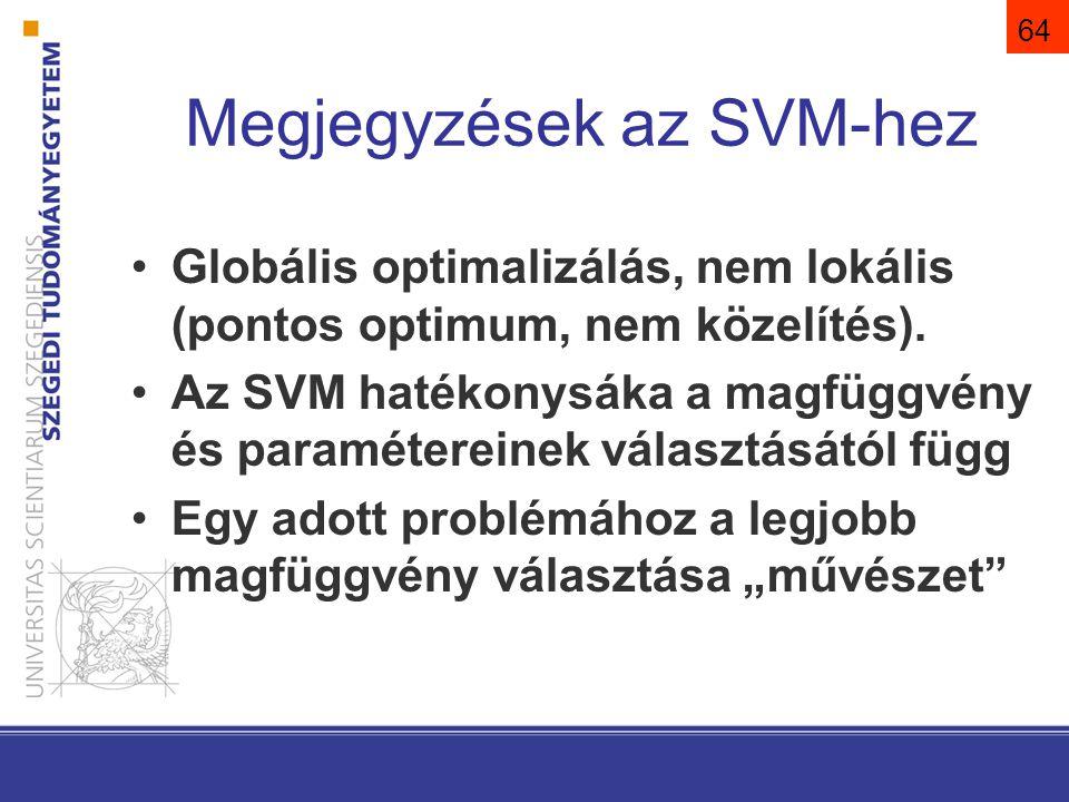 Megjegyzések az SVM-hez