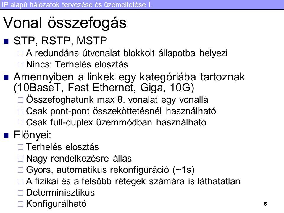 Vonal összefogás STP, RSTP, MSTP